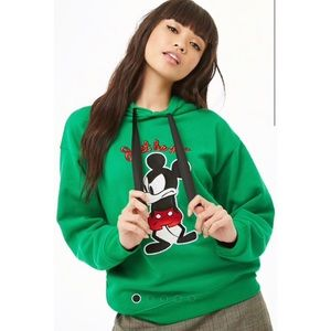 Mickey Mouse Graphic Drawstring Hoodie